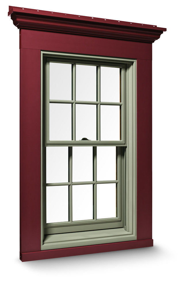 Exterior Trim System | 400 Series Double-Hung window with ...