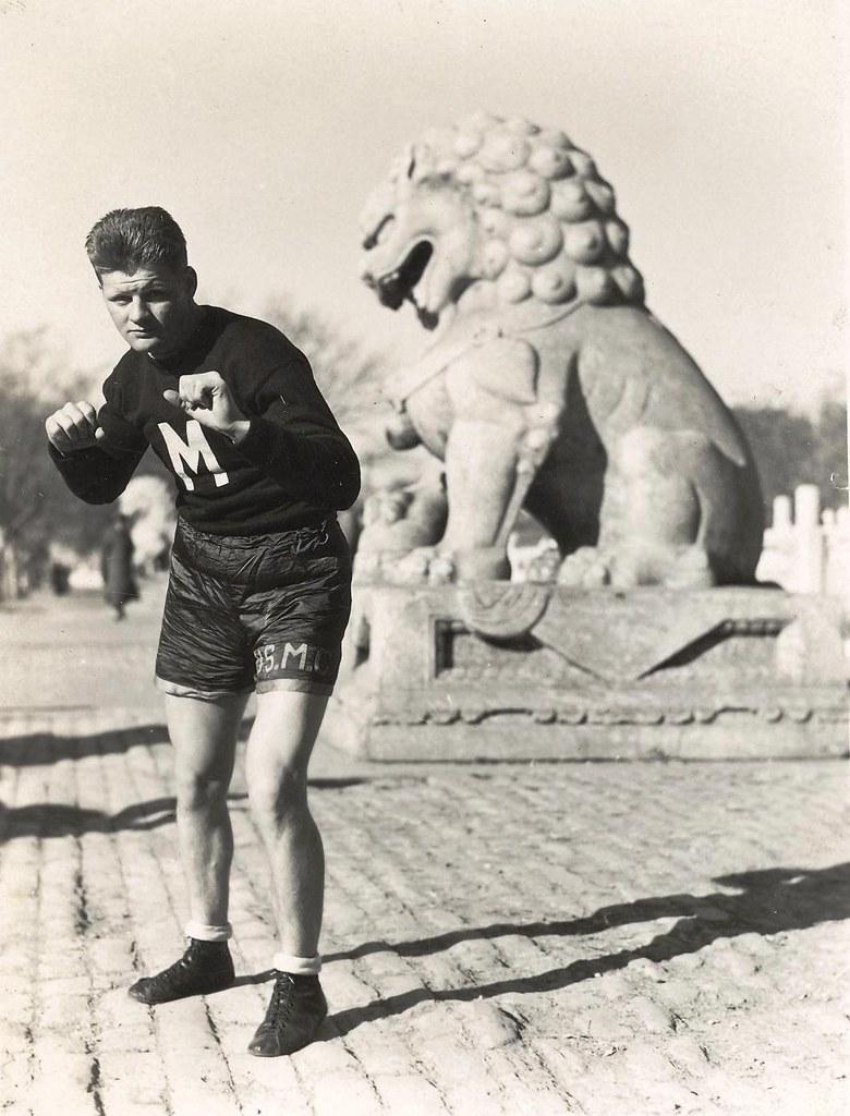 Marine Corps Boxer, Shanghai, 1930s   This unidentified Mari…   Flickr