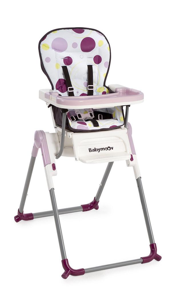 Chaise haute Slim prune