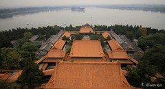 Summer Palace and Kunming Lake, high angle view,