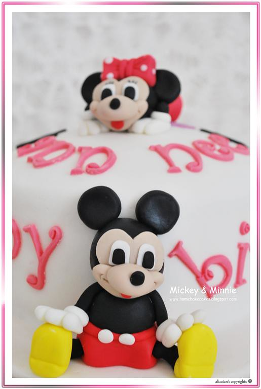 Super Mickey Minnie Birthday Cake More At Homebakecakes Blogs Flickr Funny Birthday Cards Online Overcheapnameinfo