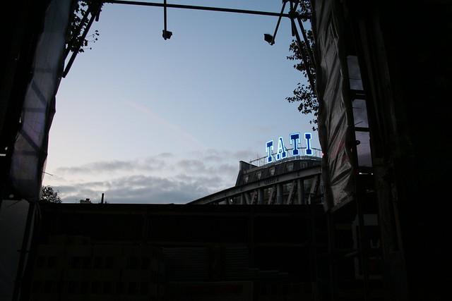 Visite du chantier, novembre 2011