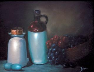 Still LIfe with Blue Eggs by David Derr | by David_Derr