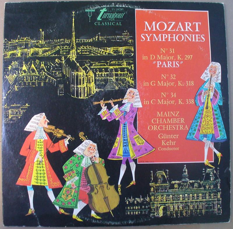 """Mozart. Sinfonía No. 31 """"París"""", Sinfonía No. 32 y Sinfonía No. 34. Orquesta de Cámara de Mainz. Director:  Günter Kehr"""