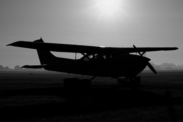 Cessna in the mist