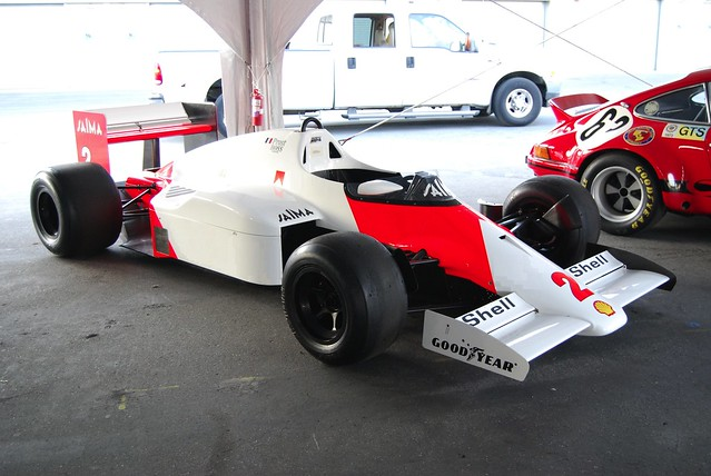 McLaren MP4/2 TAG Porsche turbo right front qtr.
