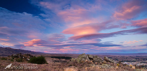 sunset alexandra centralotago clutha newzealandlandscapeimages