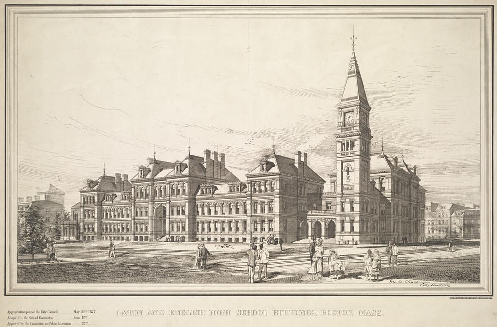 Latin and English High School buildings, Boston, Mass. | Flickr
