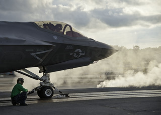 First F-35 Steam Ingestion Catapult Launch | by Lockheed Martin
