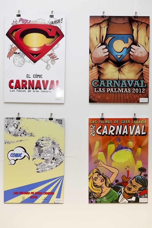 Exposición del concurso del cartel del Carnaval 2012
