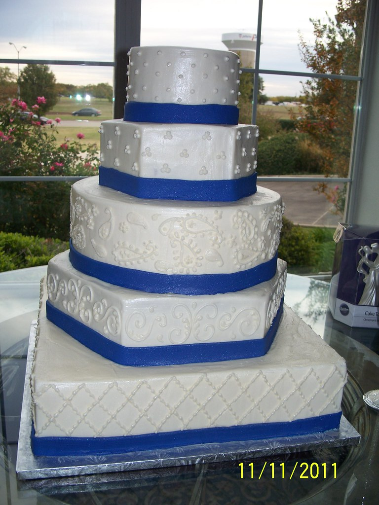 Blue Ribbon Wedding Cake Annie Hall Flickr