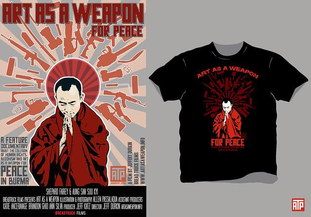 Art as a weapon T-shirt/poster