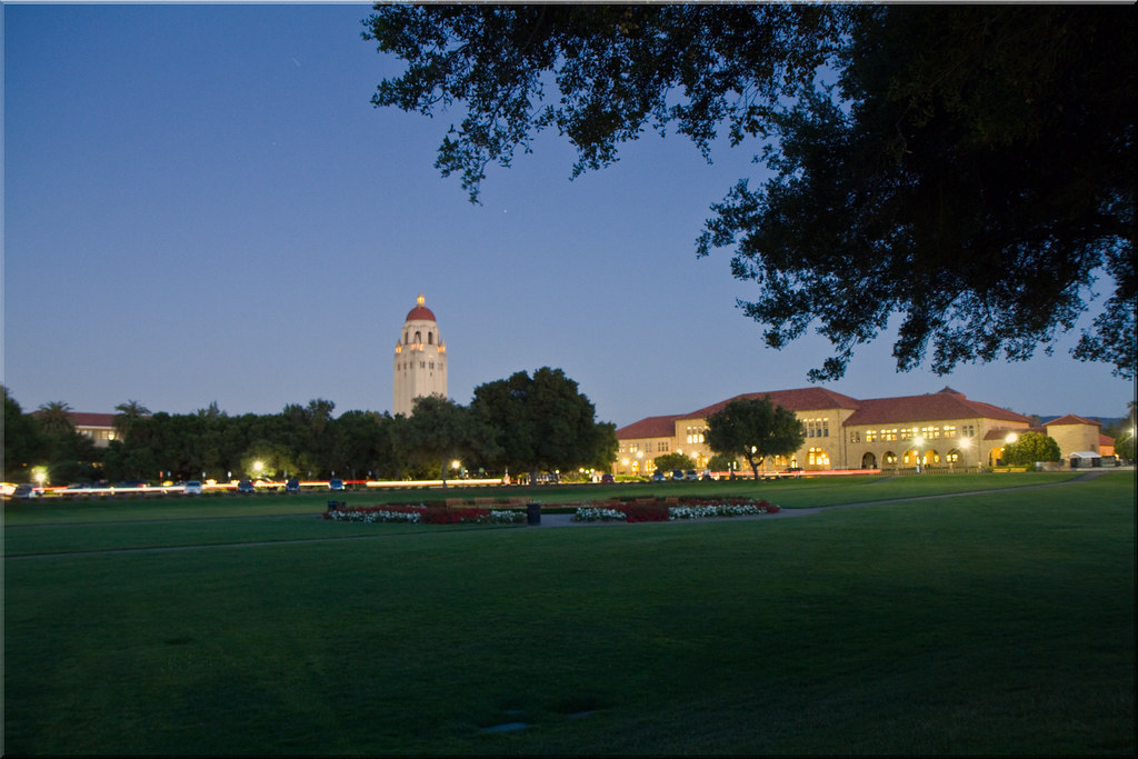 Blue Hour on the Oval Lawn