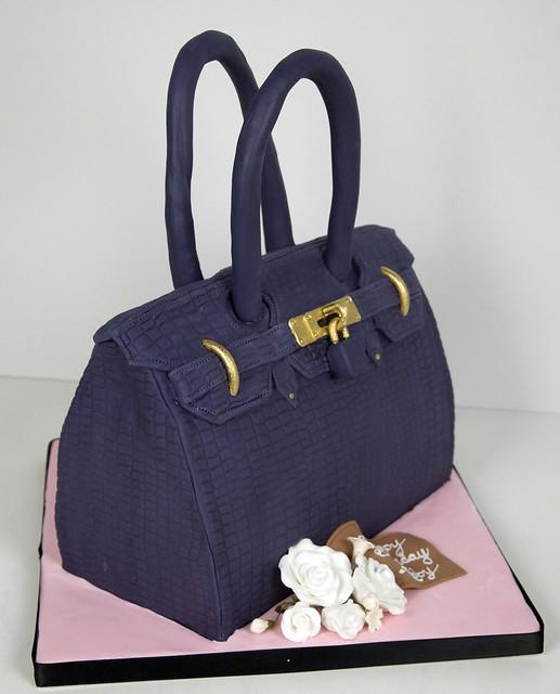 hermes violet purse cake toronto