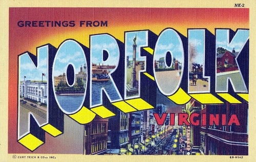 Greetings from Norfolk, Virginia | by dbostrom