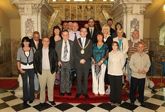 Belfast Lord Mayor with abuse survivors in City Hall