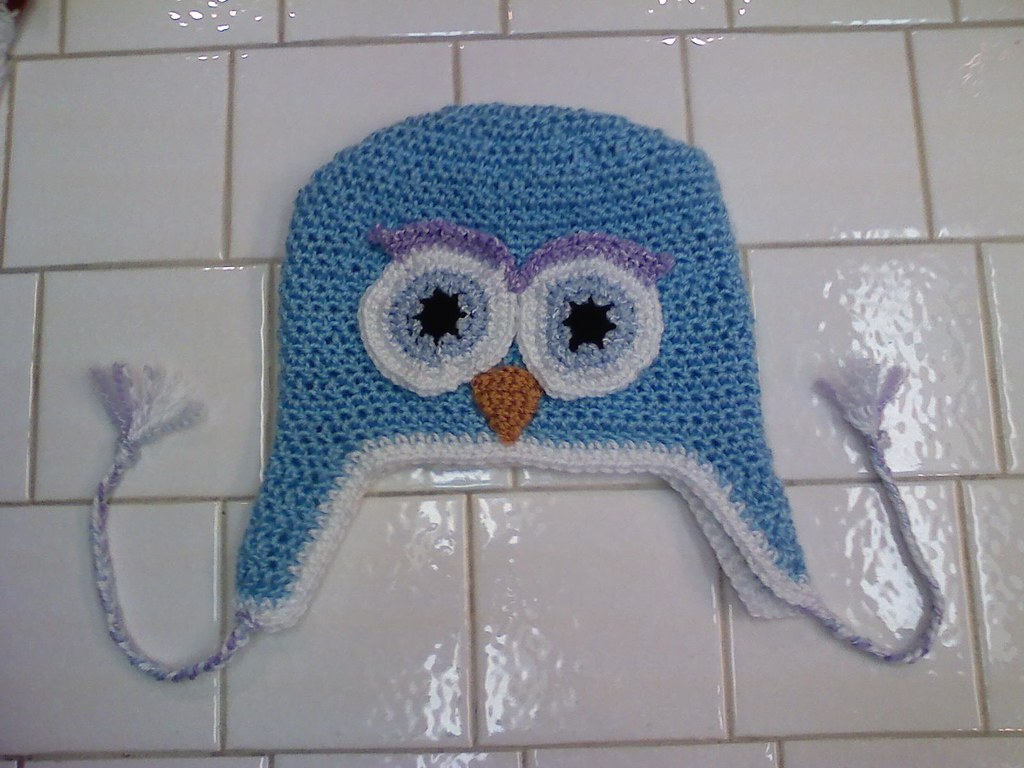 Crochet Owl Hatblue This Is My First Crochet Hat I Made Flickr