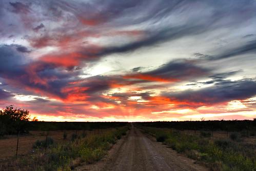 road sunset sky oklahoma beautiful clouds canon landscape interestingness hollis composed 40d chrisstoddardphotography