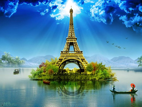 Paris Eiffel Tower wallpaper Photo Manipulation-By MRM | by vkdshameer