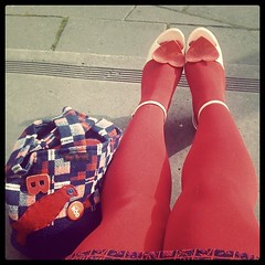 Waiting for company at the Apron Markets #feetsagram
