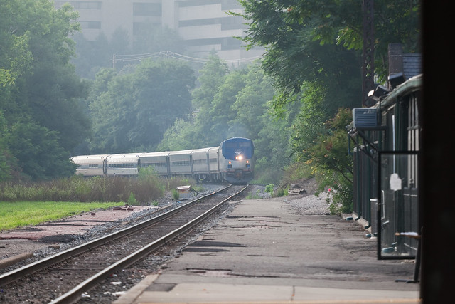Wolverine Amtrak Train Arriving in Ann Arbor