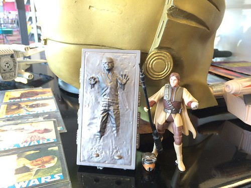 Carbonite Han Solo and Princess Leia in Boushh disguise