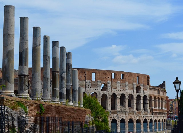 The Forum and Colosseum, Rome, Italy.
