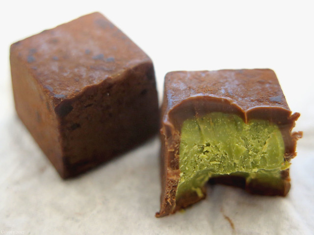Meltykiss green tea chocolate from Japan