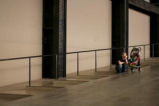 Father & sleepy child at Tate Modern | by futureshape