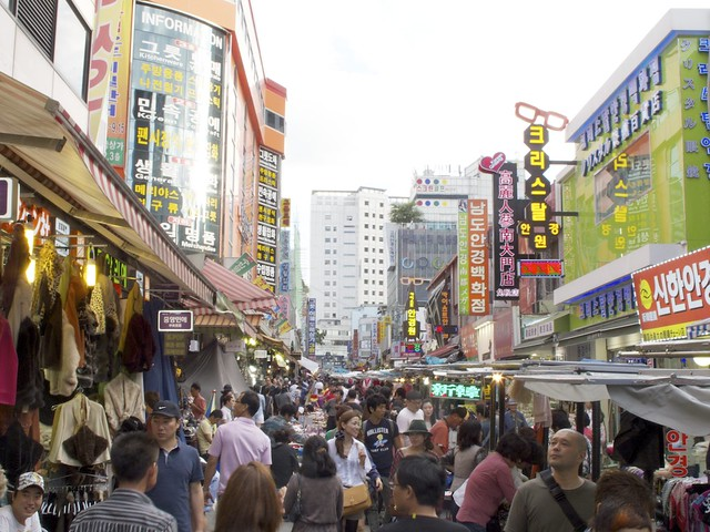 at the Namdaemun market