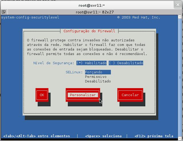 Liberar Samba 1 - system-config-securitylevel-tui