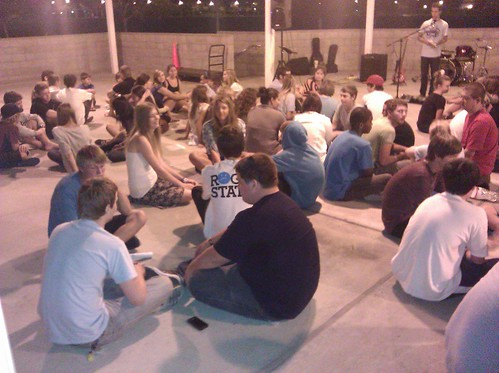 80-plus students in small groups at 6:30 @ the park...talking about Elijah & God on Mt Carmel...when God showed up with a very focused nuclear strike...could God do it again? | by Southern California Youth for Christ