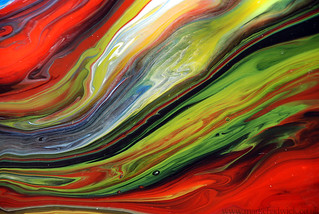 Red & Green Flowing Paint | by markchadwickart