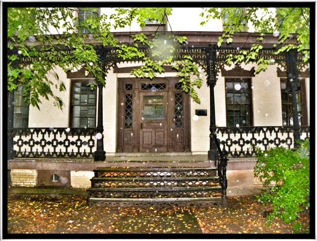 During a Rain Storm~ Parrott Hall ~ Geneva NY ~ Entrance