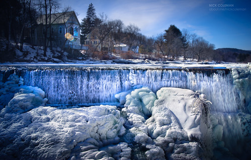 travel snow ice river landscape frozen waterfall vermont vt quechee wintericequecheesnowvermontwaterfall