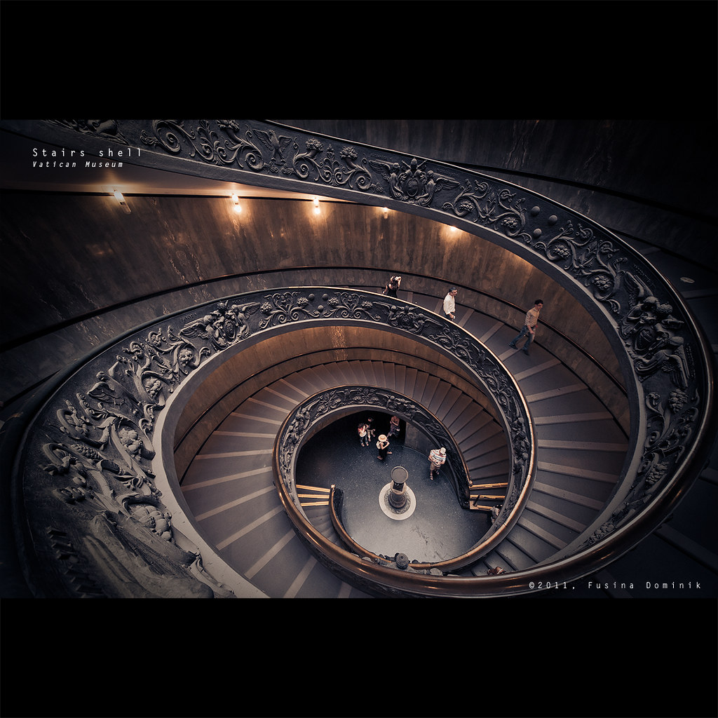 Stairs shell | Vatican Museum {Explored} by dominikfoto