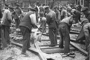 Work with tracks in Stockholm 1941   by Stockholm Transport Museum Commons