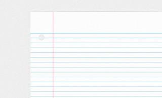 College Ruled Notebook Paper PSD | A simple little freebie