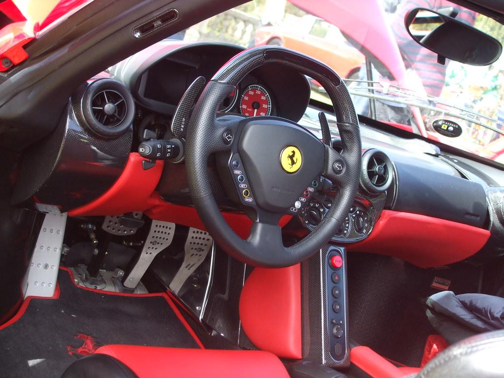 Ferrari Enzo Interior Had The Pleasure Of Taking A Seat Be Flickr