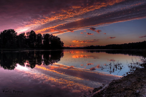 blue sunset red sky sun reflection tree water night clouds canon rocks september shore jenison