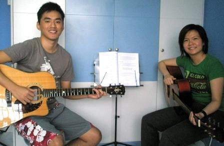 Private guitar lessons Singapore Genevieve