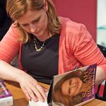 Sarah Brown book signing | Sarah Brown signing her book Behind the Black Door