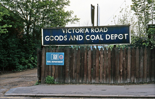 Romford Victoria Rd. Coal Depot sign, 1987. | by David Christie 14