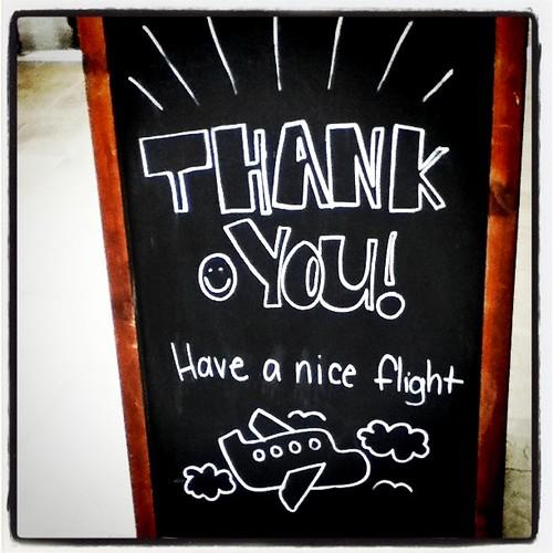 Have a nice flight.   by Nina Childish