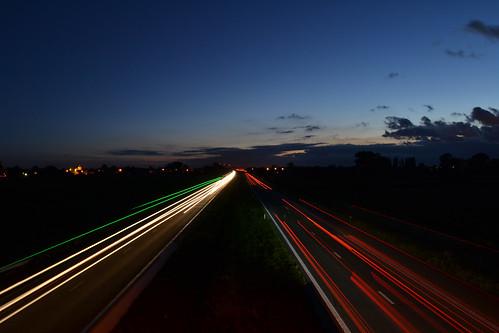 sunset zonsondergang traffic verkeer