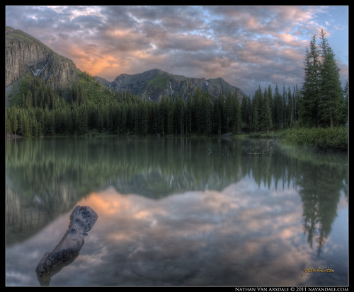 sunset lake mountains clouds photoshop colorado alpinelake mountainlake hdr highdynamicrange sanjuanmountains naturephotography photomatix altalake photomatixpro outdoorphotography reflectivelake canon40d navandale nathanvanarsdale nvaphoto talluride reflectivemountainlake