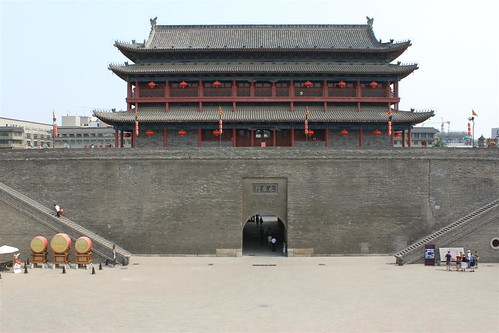 Xi'an Drum Tower and its surrounding walls around Xi'an city, China | by michelle.ongsc