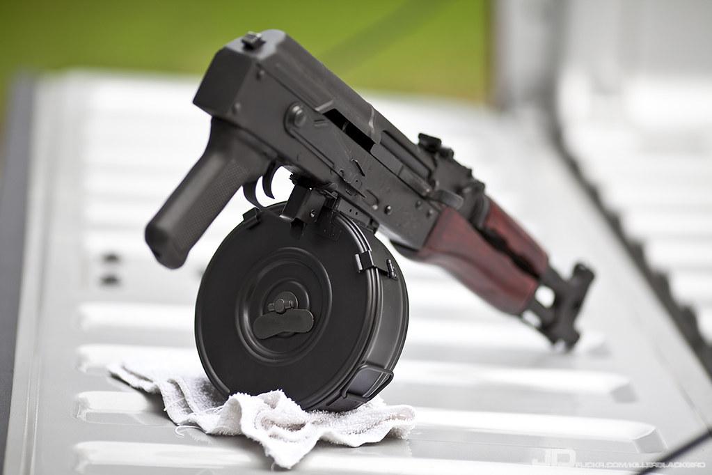AK47 Draco Pistol & 75-Round Drum | Jim Davis | Flickr