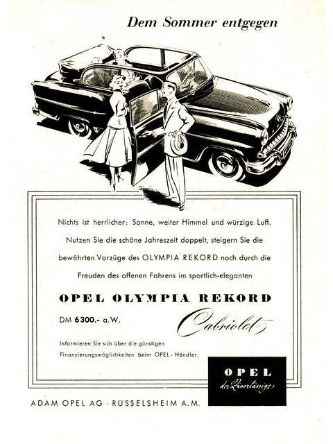 1955 Opel Olympia Rekord Cabriolet (Germany)