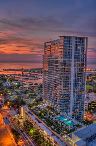 light reflection clouds sunrise stpetersburg florida nik hdr topaz photomatix signatureplacecondos